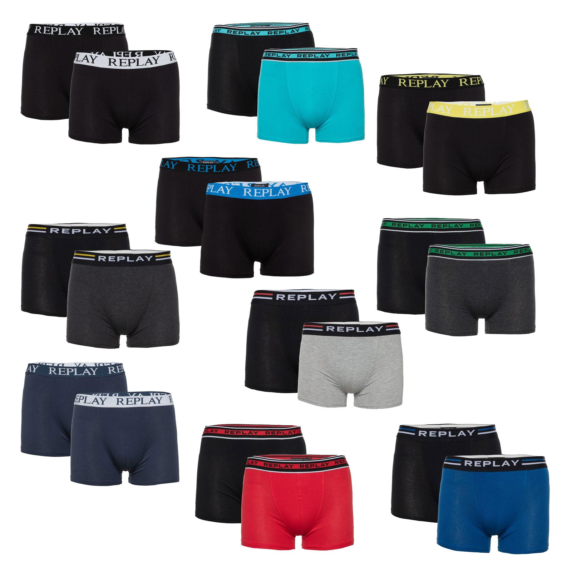 REPLAY 2-pack boxers: van €20 voor €11,99 + 2+1 gratis = 6 voor €23,98