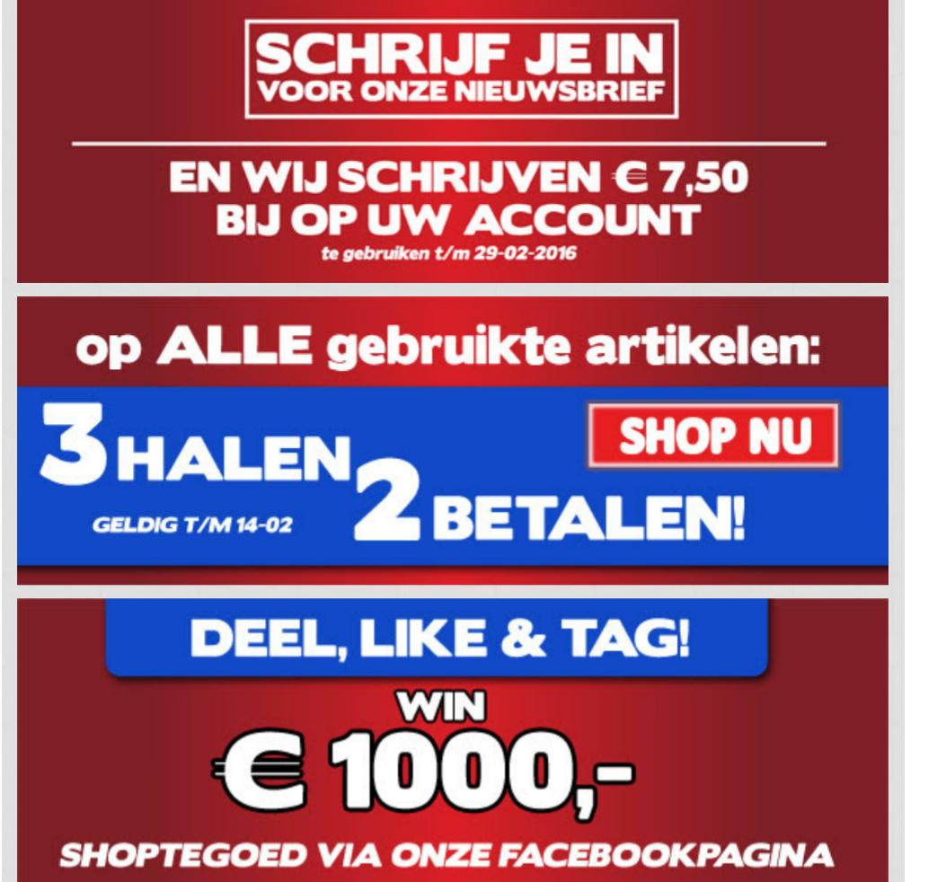 €7,50 gametegoed (min. besteding €7) + 3 halen 2 betalen op gebruikte artikelen @ Gameshop Twente