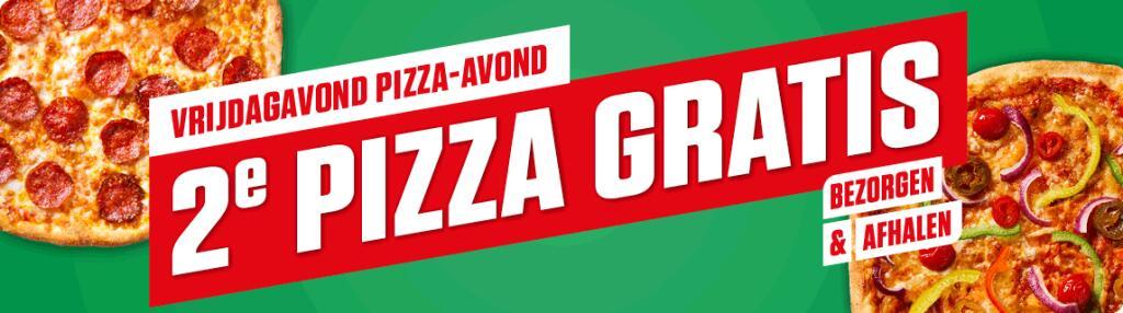 Alleen vandaag landelijk 2e pizza gratis bij New York Pizza