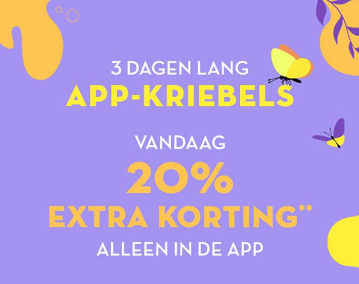 In de APP: 20% EXTRA korting [min €100]