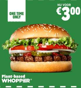 Plant-Based Whopper voor €3 @Burger King