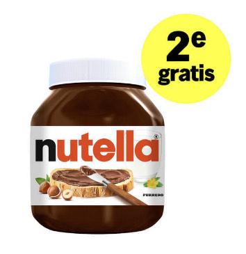 Nutella 630g 1+1 gratis @ Albert Heijn