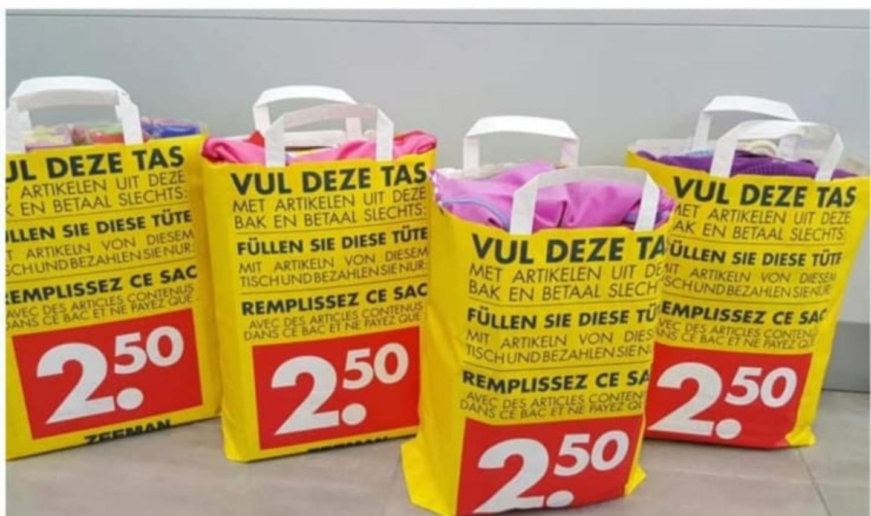 Tassenactie voor €2,50 vanaf maandag @ Zeeman