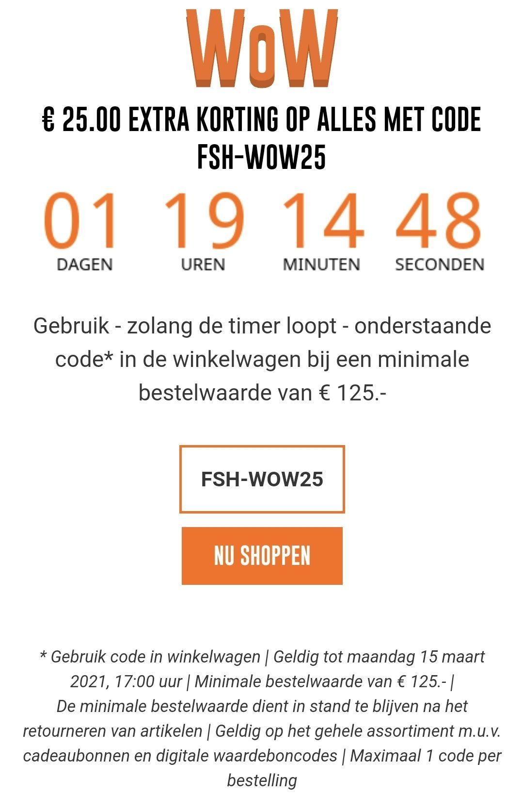 25 euro korting bij besteding van 125 euro @Futurumshop.nl