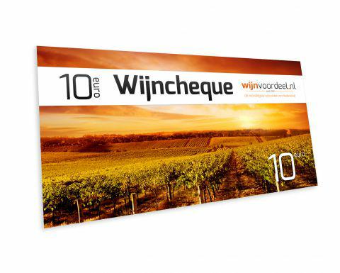 wijncheque t.w.v. 10 Euro voor 1 Euro @Wijnvoordeel