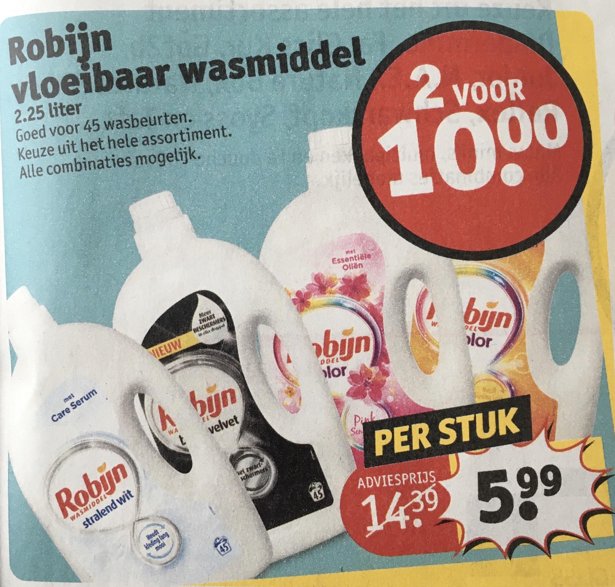 Kruidvat: Robijn vloeibaar wasmiddel - 4,5 liter = 90 wasbeurten