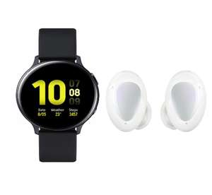 Samsung Galaxy Watch Active2, Explorer Edition, 44 mm, zwart + Samsung Galaxy Buds+, wit