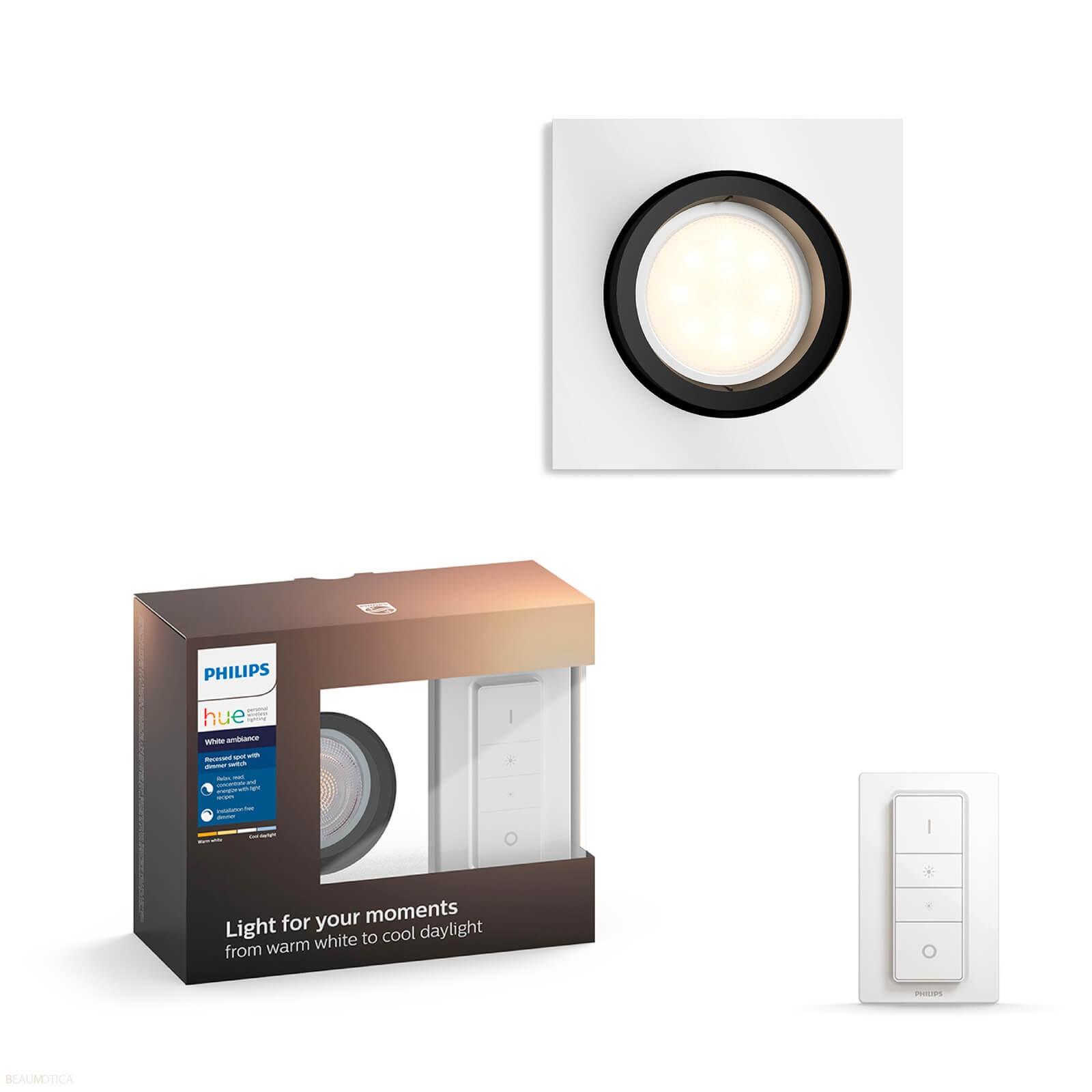 Philips Hue Hue Milliskin Spotlamp Vierkant inclusief Dimmer - White Ambiance