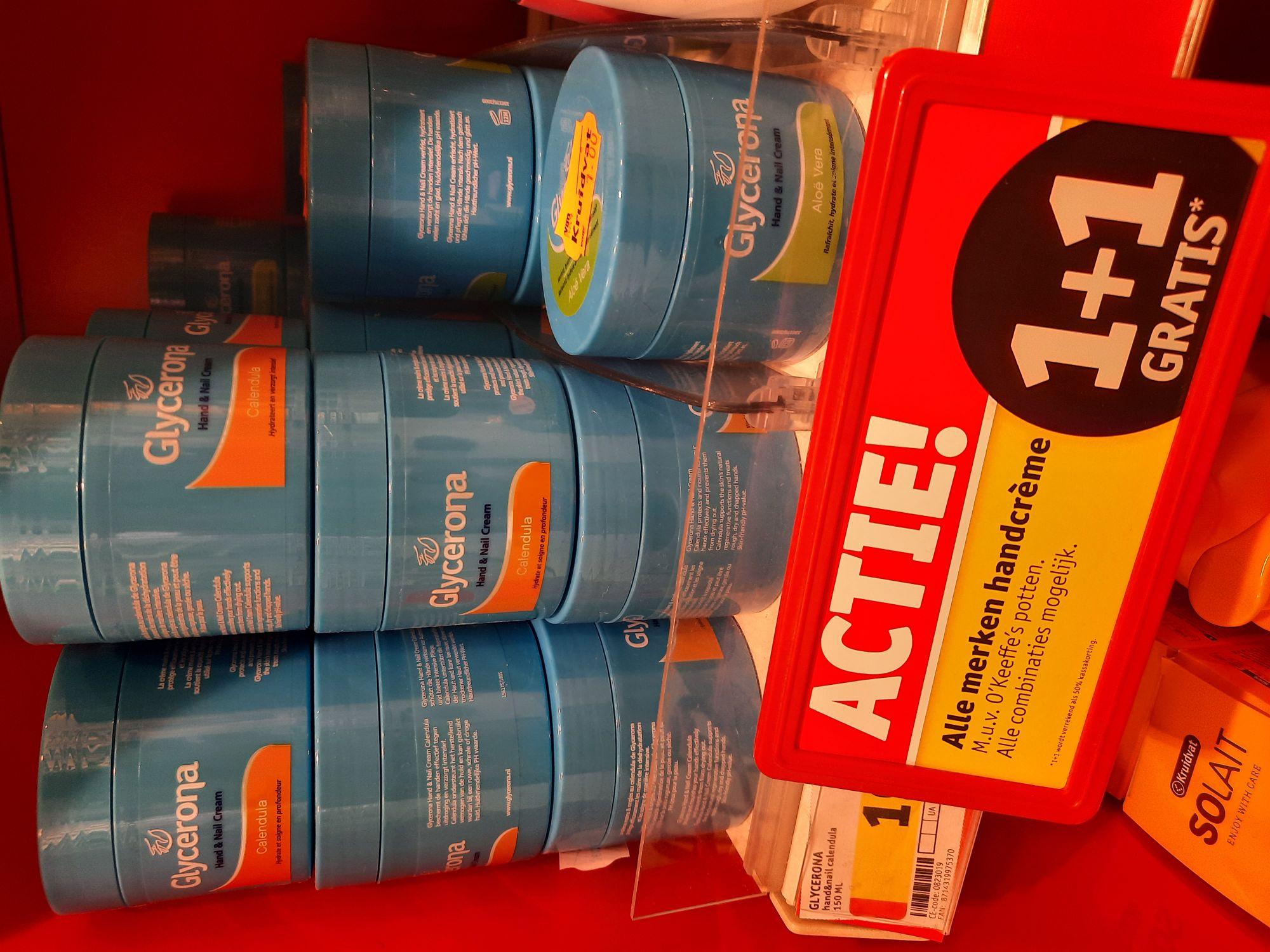 Glycerona handcreme 2 voor €1,- @Kruidvat