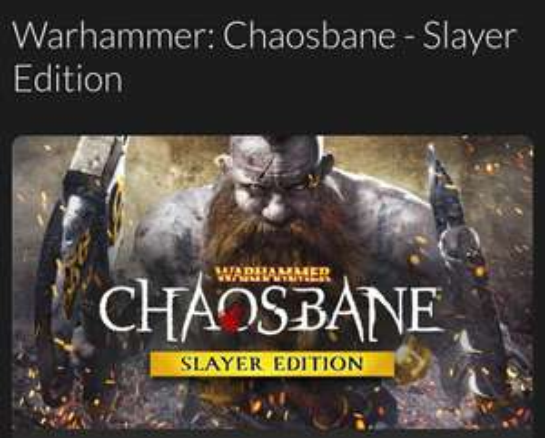 Warhammer Chaosbane Slayer Edition (Flashdeal)