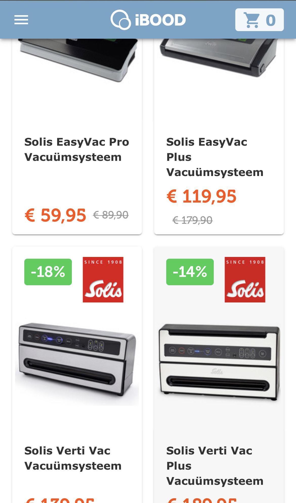 Diverse Solis vacuum machines en rollen