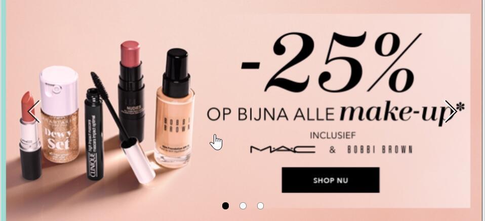 25% korting op veel make up bij DOUGLAS