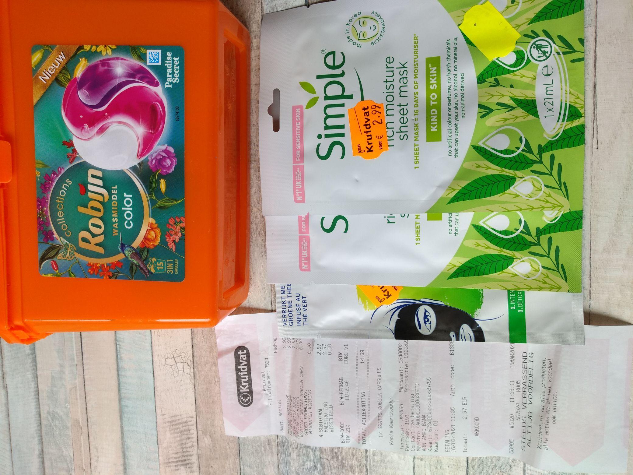 Kruidvat Robijn wasmiddel capsules + 3 producten vanaf 2,99 (in store)