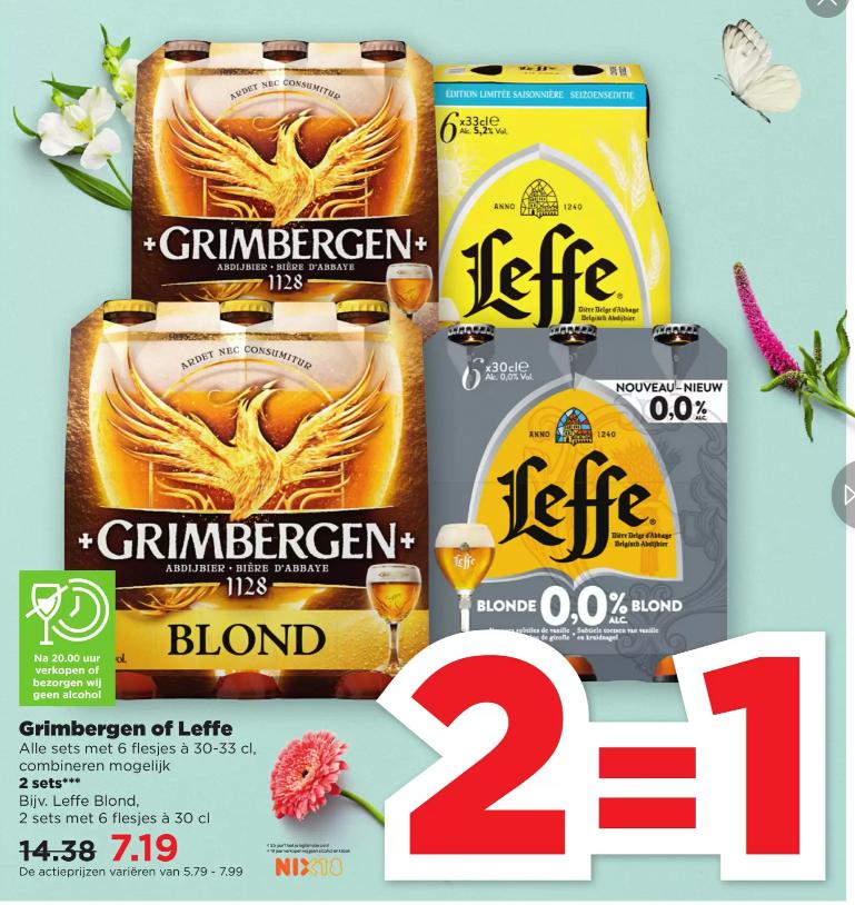 Grimbergen en Leffe 2=1 bij PLUS