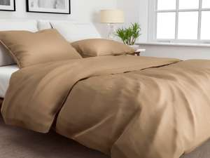 Zo!Home Satinado Dekbedovertrek Praline Brown (200×200/220)0