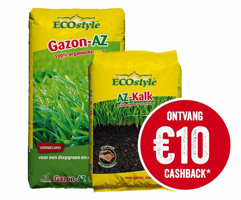 Cashback van €10,- op Gazon-az en Az Kalk 20 kg