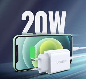 UGREEN 20W USB C oplader met PD3.0 / QC4.0 voor €7,99 met coupon @ Amazon DE