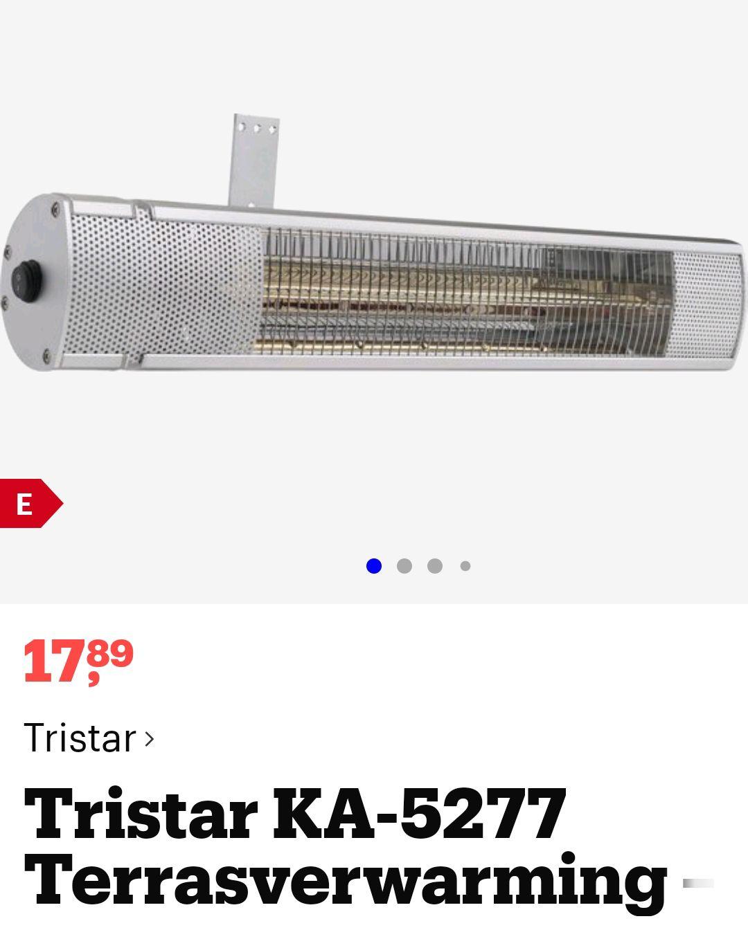 Terrasverwarming Tristar 2000 watt