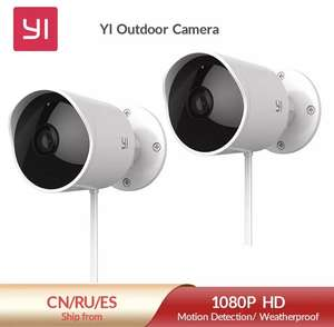 2x Yi outdoor camera 1080p wifi