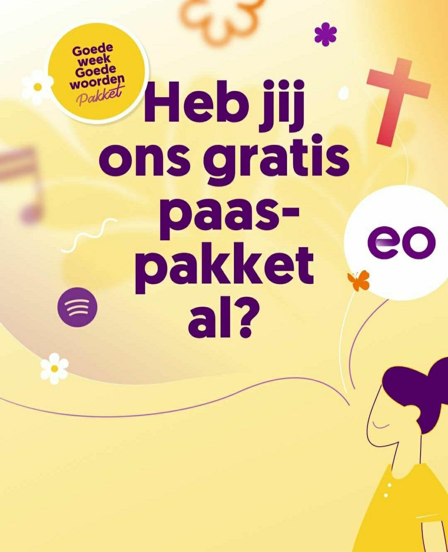 Gratis paaspakket met o.a stickers,posters en playlist