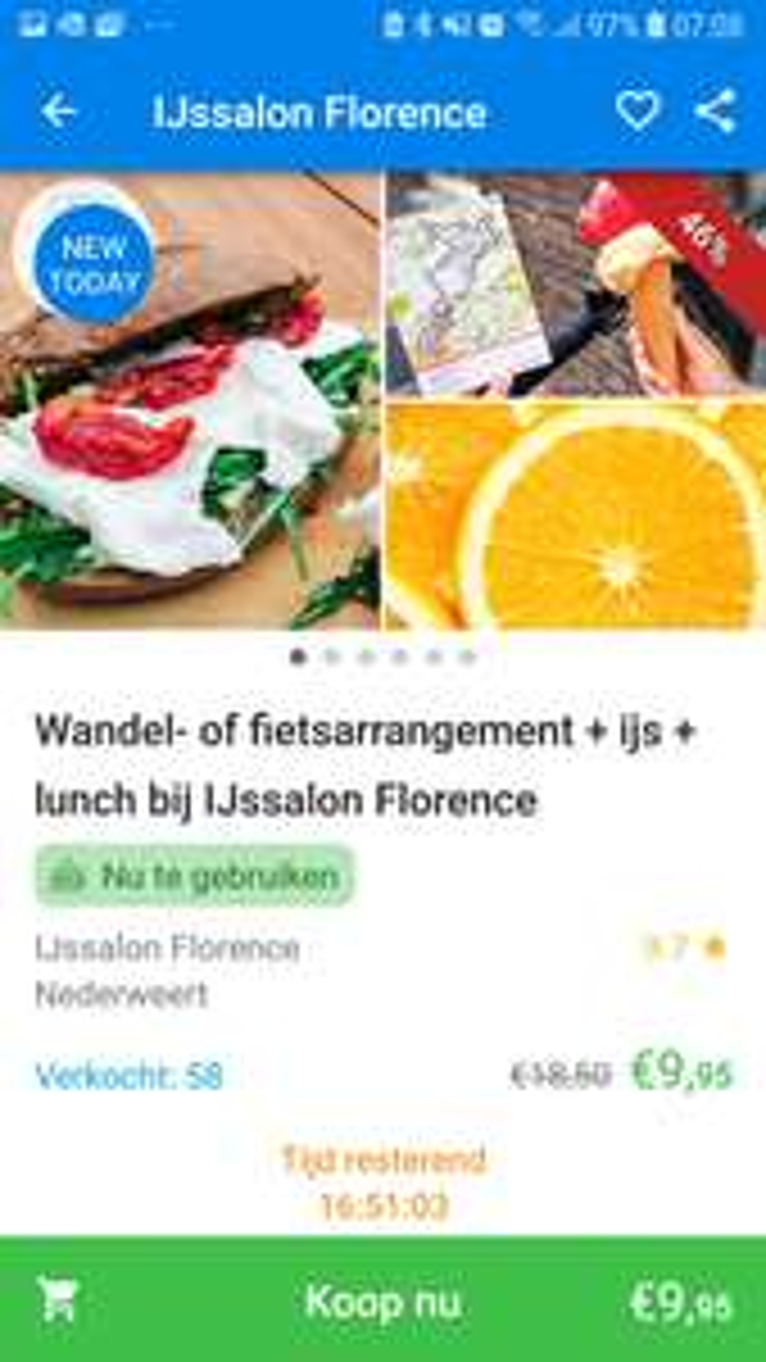 (LOKAAL) Wandel - of fietsarrangement + ijs + lunch bij ijssalon Florence Nederweert