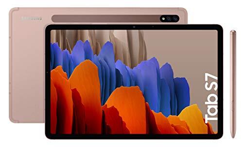 Samsung Galaxy Tab S7 T870 - 6GB/128GB Brons @ Amazon.es