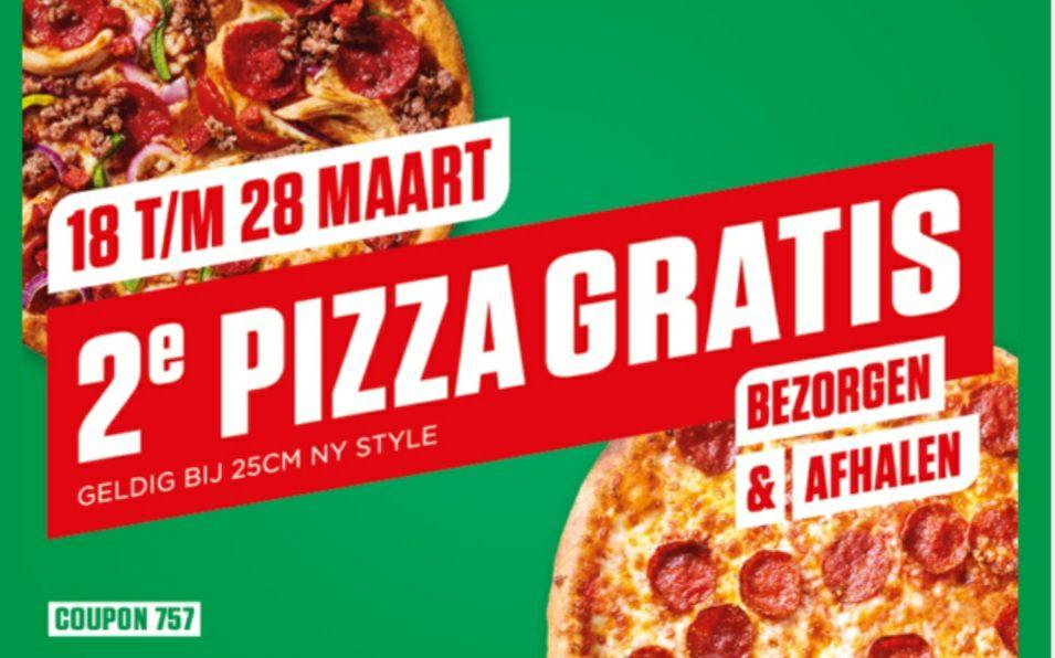 Newyork pizza 2de pizza gratis