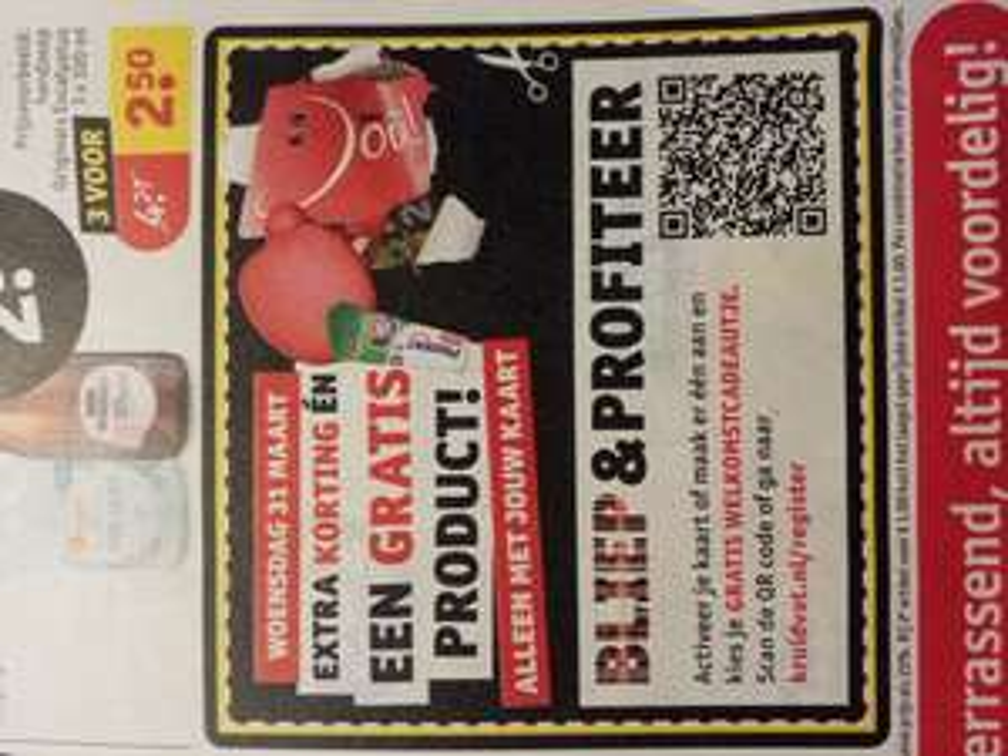 Bij besteding van 20 euro Gratis tube tandpasta bij scannen (nieuwe) Kruidvat pas op 31 maart