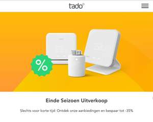 Tot 35% end of season sale in de Tado webshop