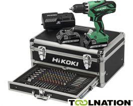 Hikoki DS18DJLWKAZ Accuboormachine 18 Volt 1,5 Ah Li-ion in Alu koffer + 100-delige accessoire set + 5 jaar dealer garantie!