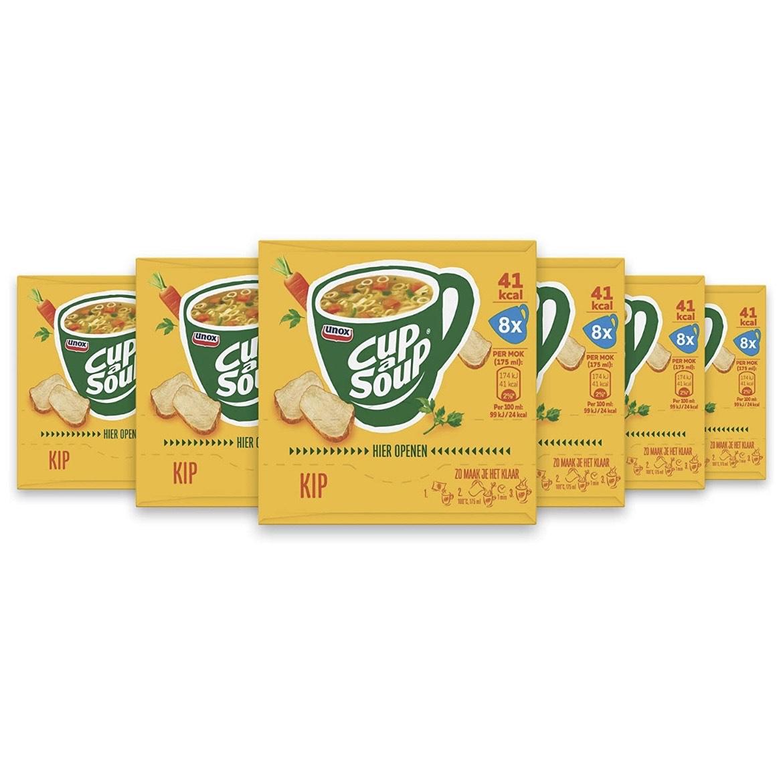 Unox Cup-A-Soup Kip - 6 x 8 zakjes