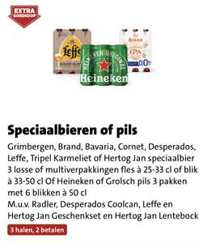 Diverse speciaalbieren (of pils) 3=2 | snel zijn, nog 2 daagjes