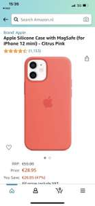 Apple Silicone Case with MagSafe (for iPhone 12 mini) - Citrus Pink