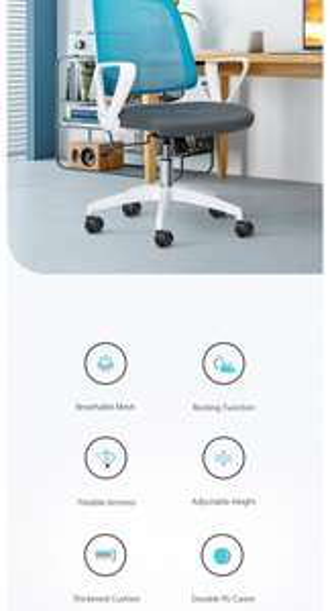 BlitzWolf® BW-HOC3 Office Mesh Chair Ergonomic Design Office Chair With Rocking Function & Flexible Armrest