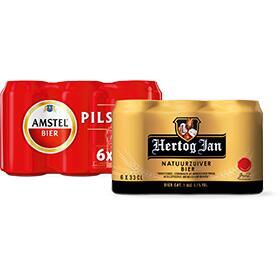 Hertog Jan 6x33cl blik - 1+1 gratis (4 weken lang) - ook blik varianten Corona, Bud, Amstel, etc.