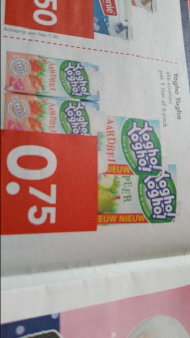 3 pack gratis bij aankoop van 6 pack Yoghoyogho Mini @ Deen