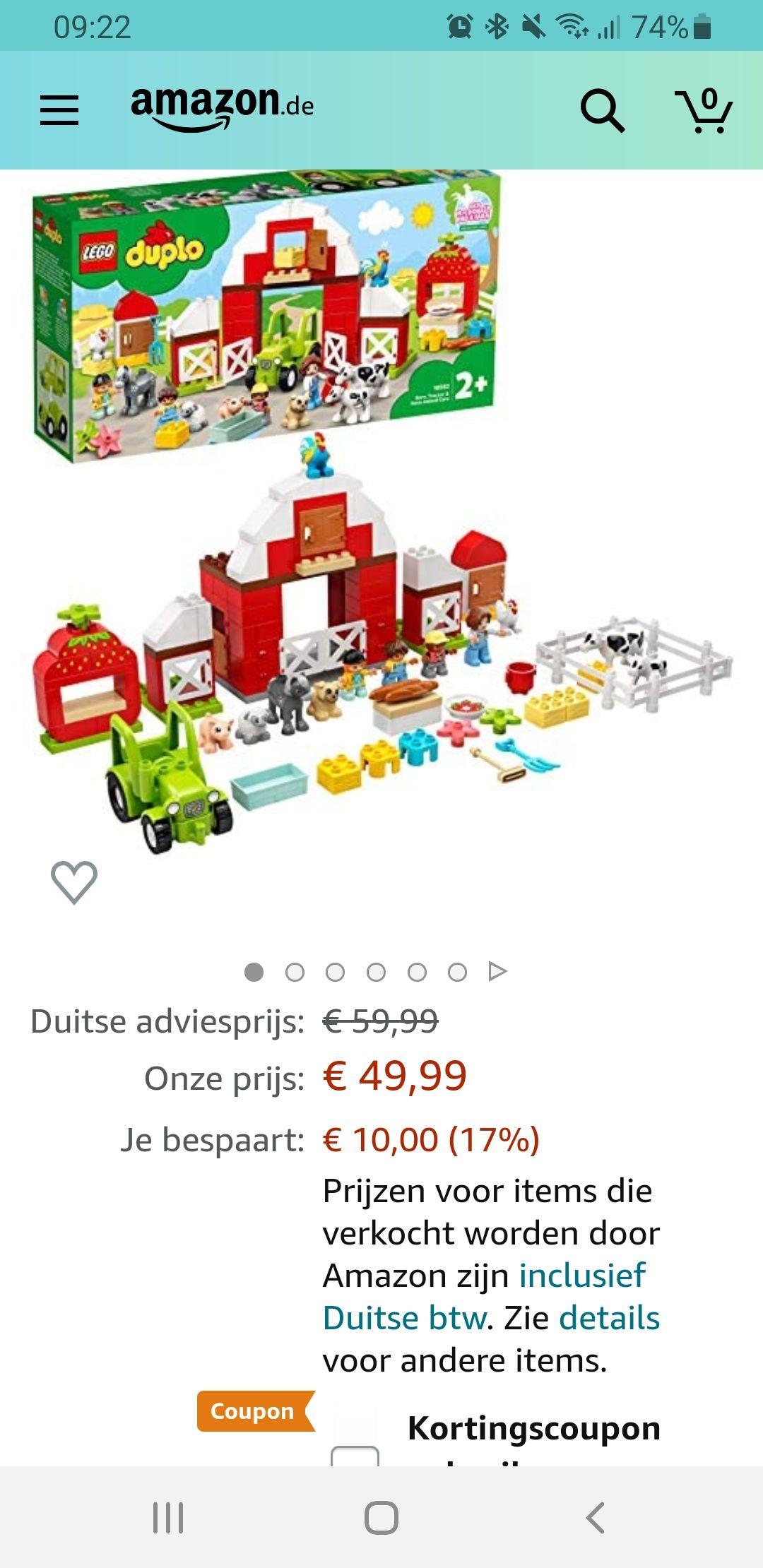 Lego Duplo 10952 boerderij €42,49 laagste prijs ooit