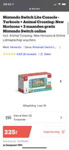 Nintendo Switch Lite + Animal Crossing: New Horizons + 3 maanden gratis Nintendo Switch online