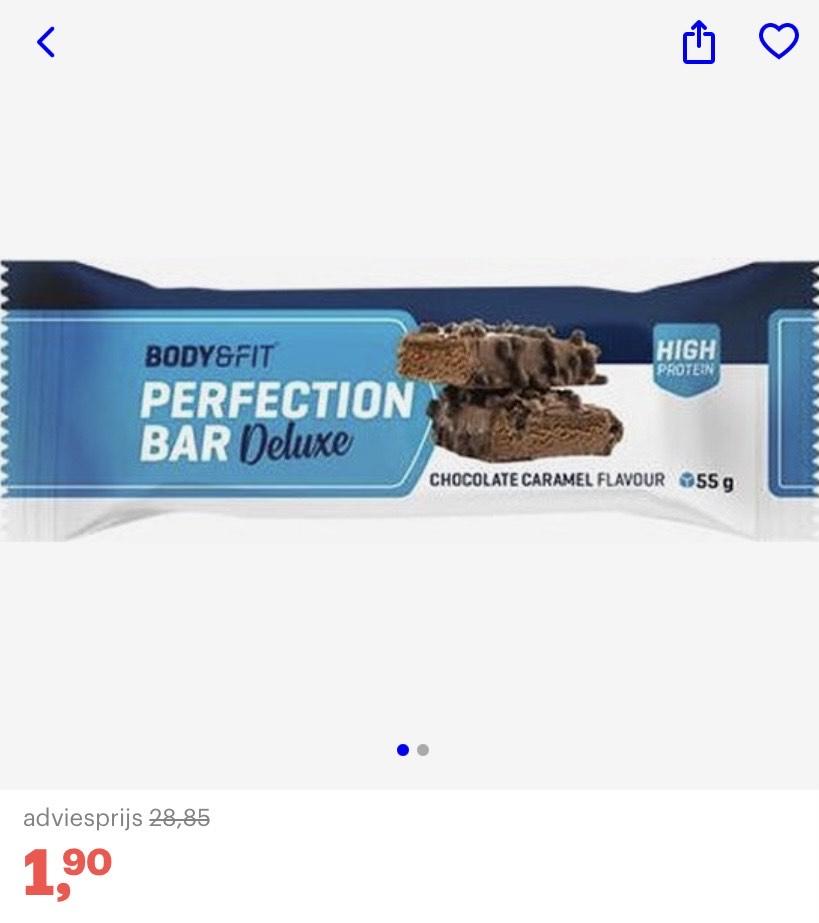 15 Body & Fit chocolade caramel eiwitrepen