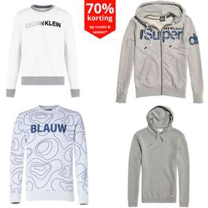 Heren truien/ sweaters /vesten -70% [o.a. CK - Scotch & Soda - Superdry]