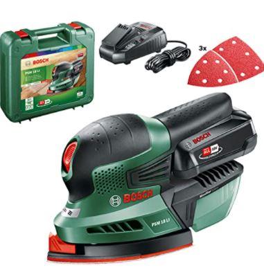 Bosch Home and Garden PSM 18 LI Battery Multisander, (1 Battery, 18 Volt System, In Suitcase)