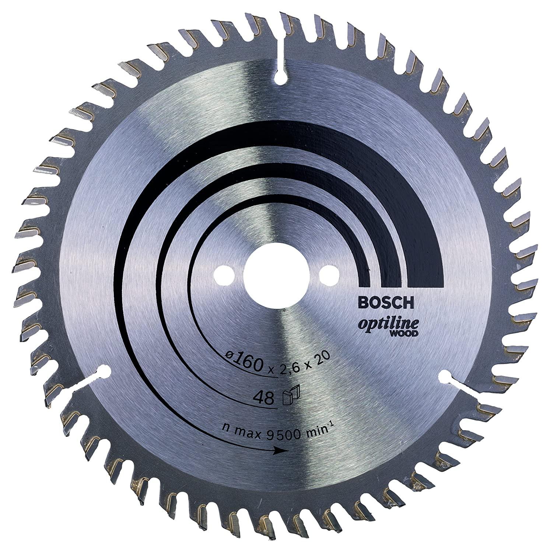 Bosch Professional Optiline Wood Cirkelzaagblad, voor Zagen in Hout, Ø 160 mm, 48 Tanden