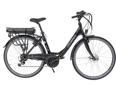 "E-citybike 28"" €849 @ Lidl-shop (voorwielmotor / accu: 13,5 Ah, 486 Wh)"