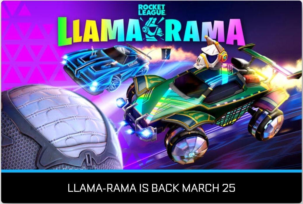 Llama-Rama event @ Rocket League.