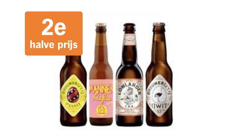Alle craft speciaal bieren 2e halve prijs
