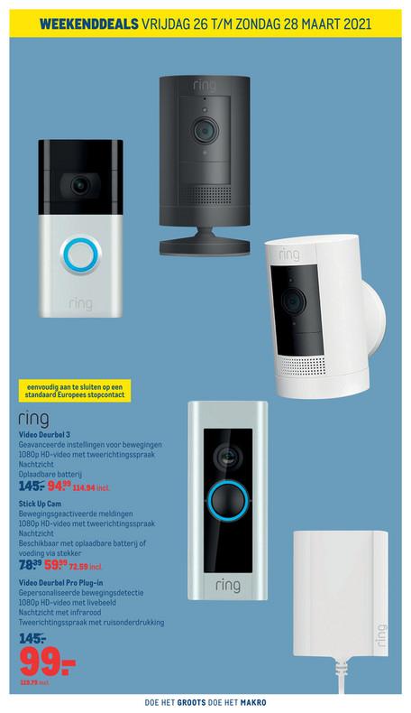 Ring pro plugin deurbel