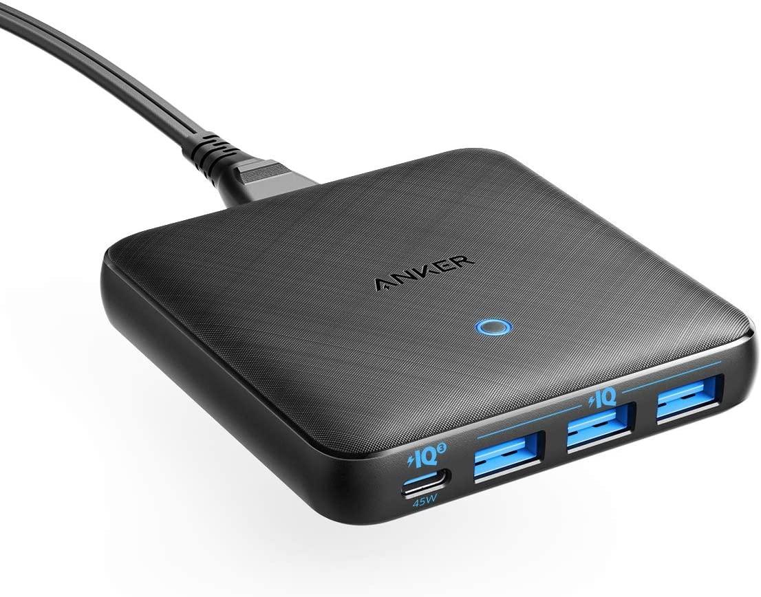 Anker PowerPort Atom III Slim USB-C Charger 65W with 45W USB-C (+ 3x USB-A)