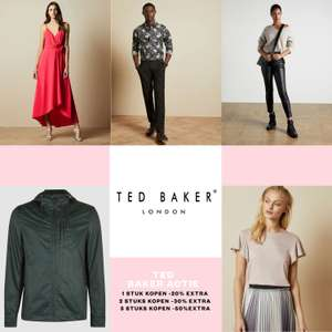 Ted Baker -70% + 20-50% EXTRA korting