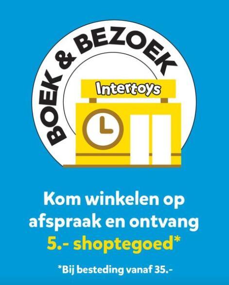 5 euro korting bij besteding 35 euro aan speelgoed @ Intertoys winkels (afspraak)
