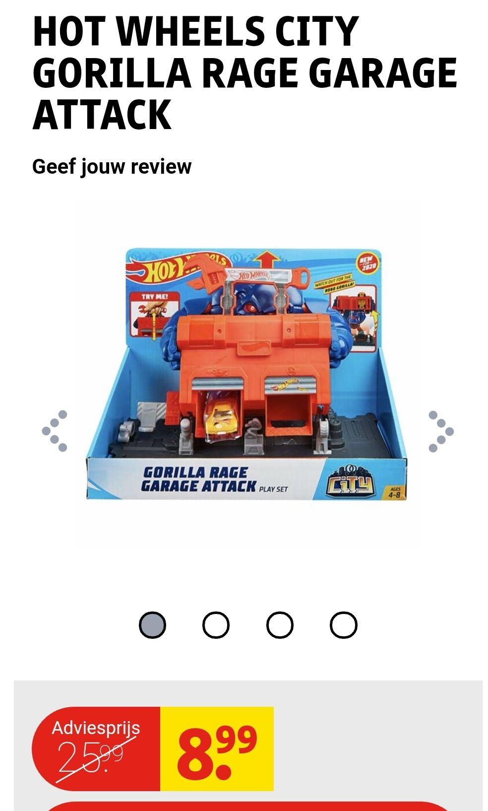 Hot Wheels city gorilla rage garage attack.